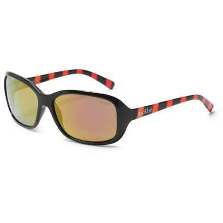 Bolle Molly Sunglasses (For Women) in Shiny Black/Rainbow/Rose Gold - Overstock
