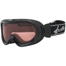 Bolle Nebula Snowsport Goggles - Photochromic Lens in Shiney Black/Modulator Vermillion - Closeouts