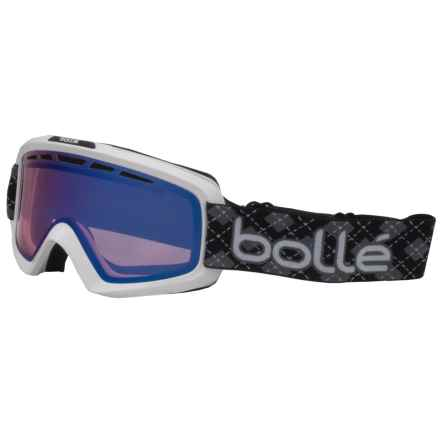 Bolle Nova 2 Ski Goggles - Modulator Vermillion Photochromic Lens in Shiny White/Modulator Vermillion Blue - Closeouts