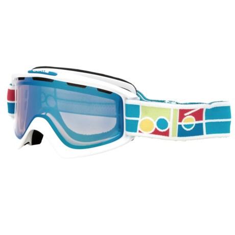 Bolle Nova Snowsport Goggles in White/Aurora