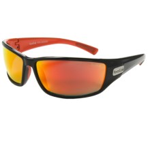 Bolle Python Sunglasses - Polarized in Shiny Black/Red/Tns Fire Oleo Af - Closeouts
