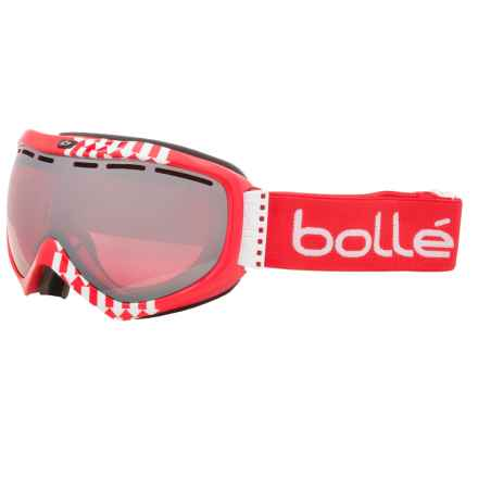 Bolle Quasar Ski Goggles - Vermilion Lens in Red Arrow/Vermillion Gun - Closeouts