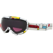 Bolle Quasar Snowsport Goggles - Modulator Vermillion Lens in Blocks/Modulator Vermillion - Closeouts