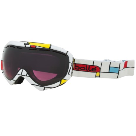 Bolle Quasar Snowsport Goggles - Modulator Vermillion Lens in Blocks/Modulator Vermillion
