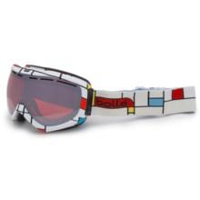 Bolle Quasar Snowsport Goggles - Vermilion Lens in Blocks/Vermillon Gun - Closeouts