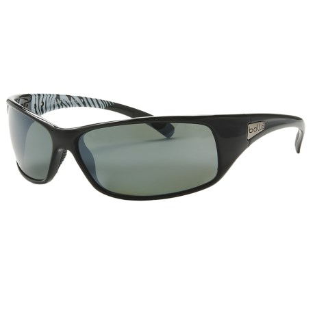 Bolle Recoil Sunglasses - Polarized in Shiny Black/White/Tns Gun Oleo Af