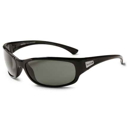 Bolle Ringer Sunglasses - Polarized Mirror Lenses in Shiny Black/True Neutral Smoke - Closeouts
