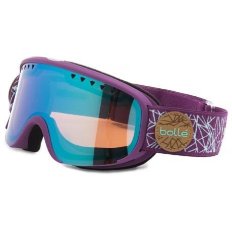 Bolle Scarlett Ski Goggles (For Women in Matte Purple/Mint Diamond Aurora