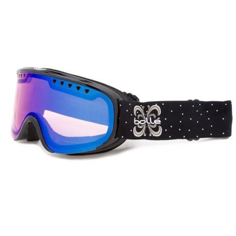 Bolle Scarlett Ski Goggles (For Women in Shiny Black Night/Modulator Vermillion Blue