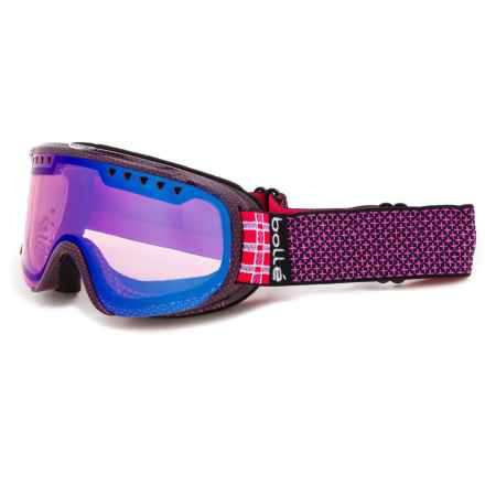 Bolle Scarlett Ski Goggles (For Women in Shiny Pink Plaid/Modulator Vermillon Blue - Closeouts