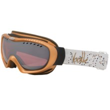 Bolle Simmer Snowsport Goggles - Spherical Lens in Gold/Vermillion Gun - Closeouts