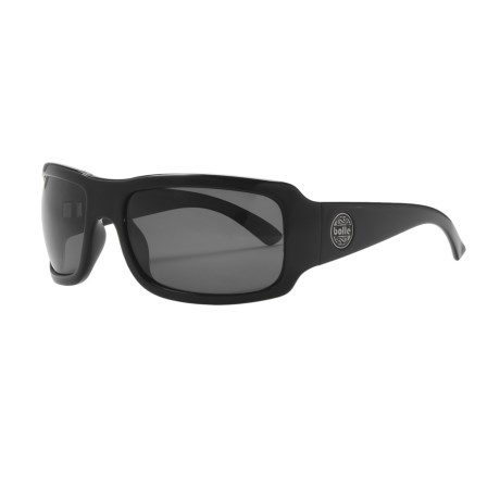 Bolle Slap Sunglasses - Polarized in Shiny Black/Tns Grey