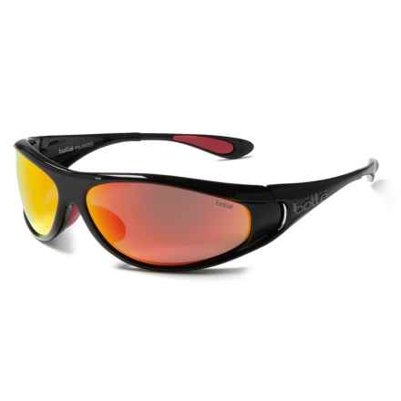 Bolle Spiral Sunglasses - Polarized in Shiny Black-Red/True Neutral Smoke-Fire - Closeouts