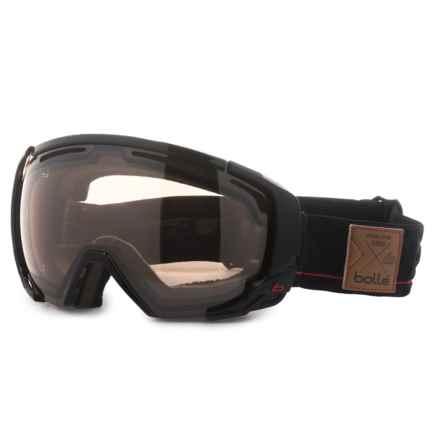 Bolle Supreme Ski Goggles - Photochromic Lens, OTG (For Men) in Shiny Black/Red/Citrus Gun - Overstock