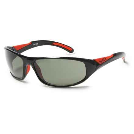 Bolle Swift Sunglasses in Shiny Black/Red/Modulator Gray - Closeouts