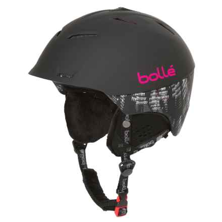 Bolle Synergy Ski Helmet in Soft Black/Pink - Closeouts
