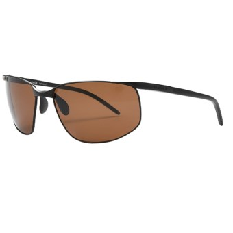 Bolle Tempo Sunglasses - Polarized in Satin Black/A-14 Amber