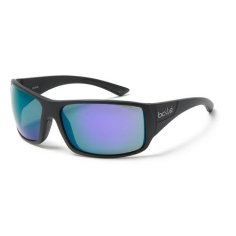 Bolle Tigersnake Sunglasses in Matte Black/Blue Violet