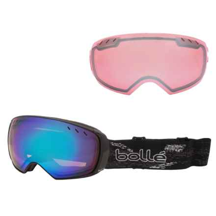 Bolle Virtuose Ski Goggles - Interchangeable Lens in Black/Aurora Vermillon Gun - Closeouts