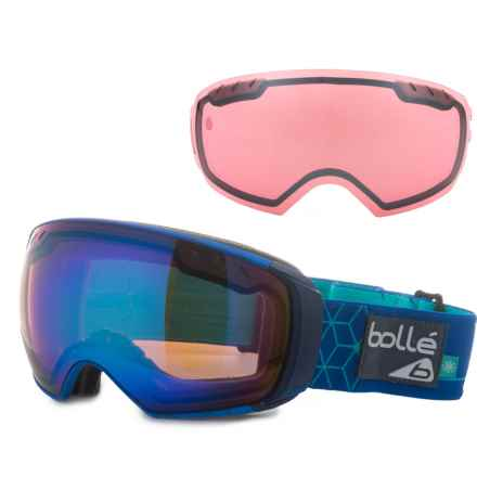 f802a81ed4cd Bolle Virtuose Ski Goggles - Interchangeable Lens in Blue Iceberg  Aurora Vermillon Gun -