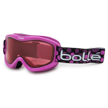 Bolle Volt Ski Goggles - Vermillion Lens (For Kids) in Pink Dots/Vermillon
