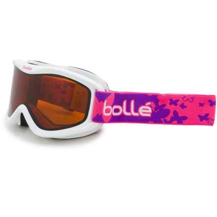 Bolle Volt Snowsport Goggles - Mirror Lens (For Kids) in White Butterfly/Citrus Dark - Closeouts