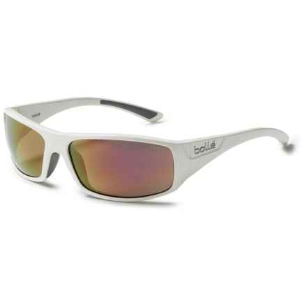 Bolle Weaver Sunglasses - Mirrored Lenses in Shiny White/Rose Gold - Closeouts