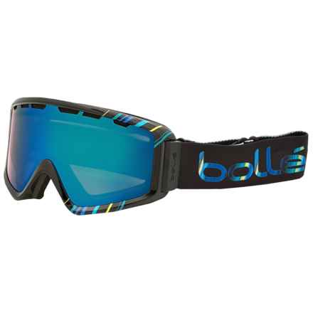 Bolle Z5 OTG Ski Goggles in Shiny Black/Blue/Green Emerald - Closeouts