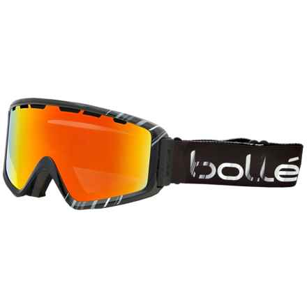 Bolle Z5 OTG Ski Goggles in Shiny Black/White Sunrise - Closeouts