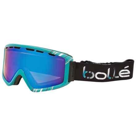 Bolle Z5 OTG Ski Goggles in Shiny Mint/Aurora - Closeouts