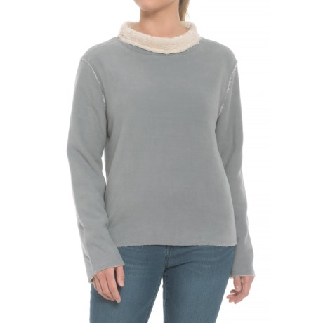 Image of Bonded Cozy Poly Drop-Shoulder Pullover Shirt - Long Sleeve (For Women)