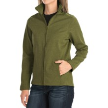 Bonded Fleece Jacket (For Women) in Green Heather - 2nds