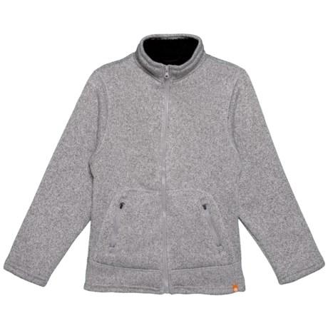 Image of Bonded Sweater Fleece Sherpa Jacket (For Big Boys)