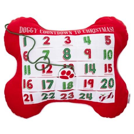 Image of Bone Advent Decorative Dog Pillow - 25x20?