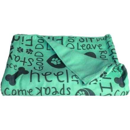 "Bone Dry Dog Drying Towel - 44x28"" in Aqua - Closeouts"