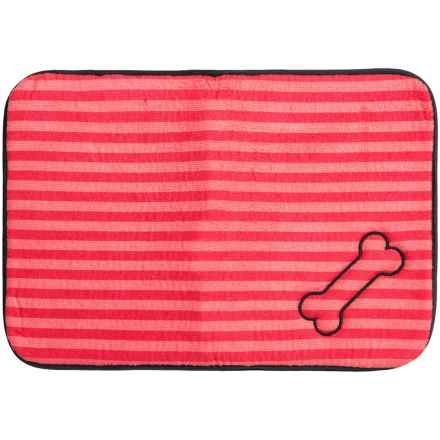 """Bone Dry Embroidered Pet Mat - 18x12"""" in Red Sorbet - Closeouts"""