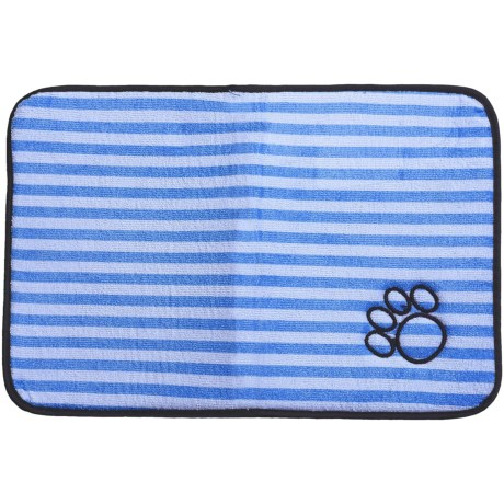 Bone Dry Embroidered Striped Pet Mat - 18x12""