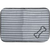 """Bone Dry Embroidered Striped Pet Mat - 18x12"""""""