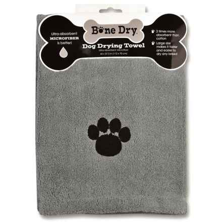"Bone Dry Microfiber Drying Towel - 44x28"" in Grey Paw - Closeouts"