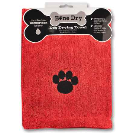 """Bone Dry Microfiber Drying Towel - 44x28"""" in Red Paw - Closeouts"""