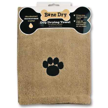 "Bone Dry Microfiber Drying Towel - 44x28"" in Taupe Paw - Closeouts"