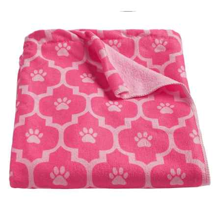 Bone Dry Moroccan Tile Dog Towel in Pink - Closeouts