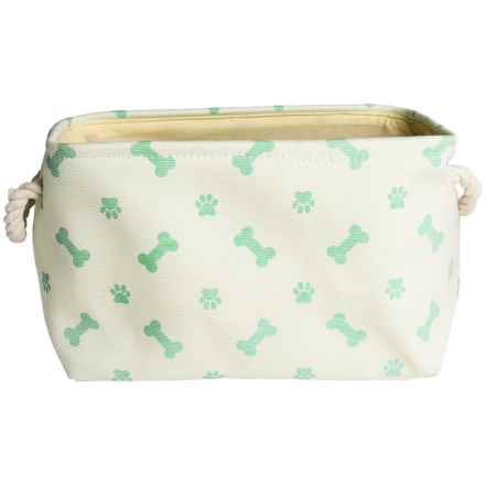 Bone Dry Paw & Bone Pet Toy Bin - Medium in Mint - Closeouts