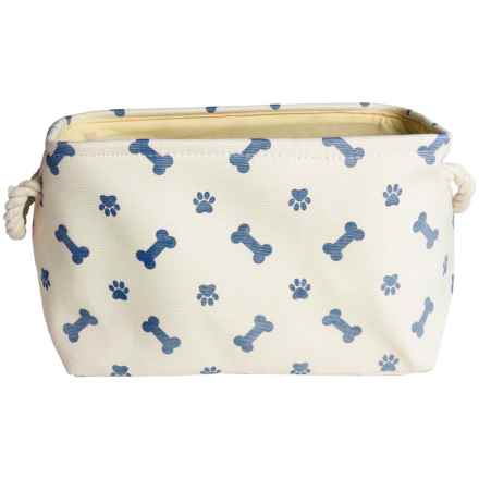 Bone Dry Paw & Bone Pet Toy Bin - Medium in Nautical Blue - Closeouts