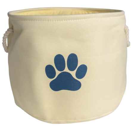 Bone Dry Round Toy Bin - Large in Off White - Closeouts