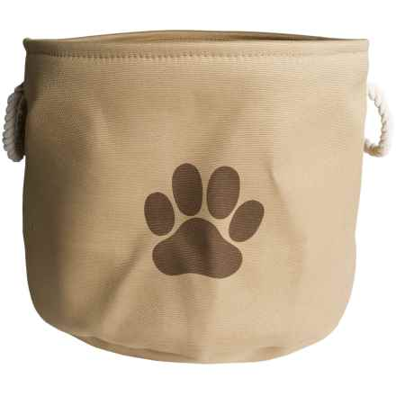 Bone Dry Round Toy Bin - Large in Taupe - Closeouts