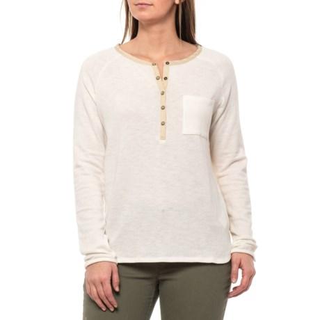 Image of Bone Hensley Henley Shirt - Organic Cotton, Long Sleeve (For Women)