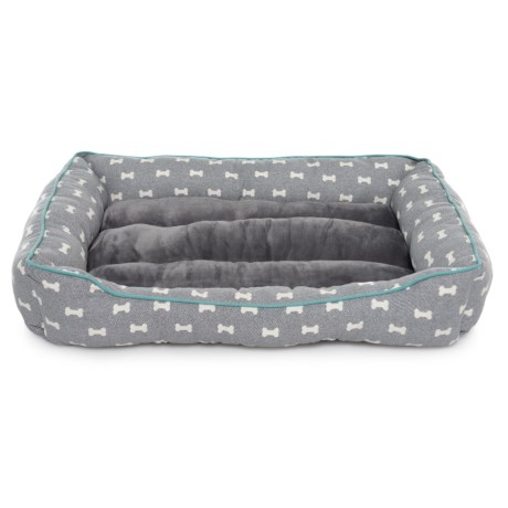 Image of Bones Print Cuddler Dog Bed - 33x23?