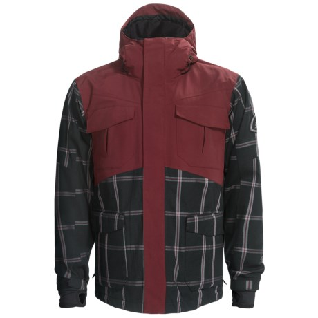 Bonfire Baker Snowboard Jacket - Waterproof (For Men) in Burnt Canvas/Marine