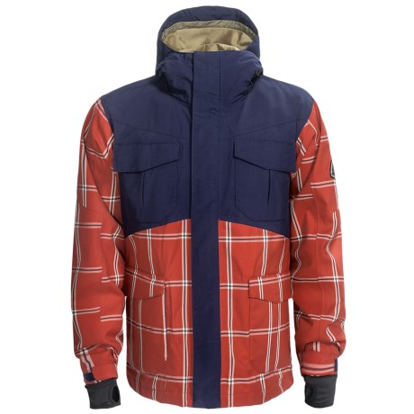 Bonfire Baker Snowboard Jacket - Waterproof (For Men) in Burnt Canvas/Marine